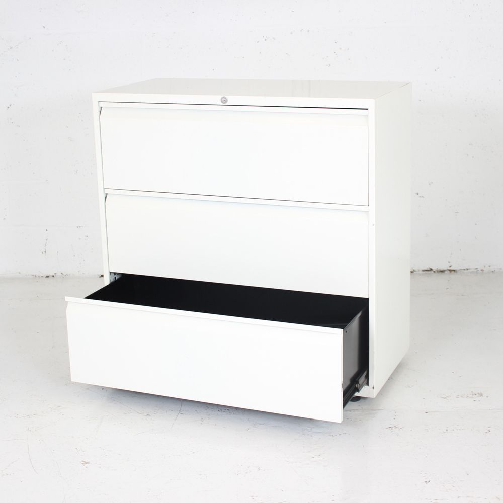 White Three Drawer Side Filer | Three Drawer Office Storage | White Filing  Cabinet